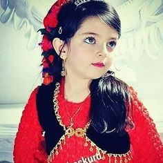 What a lovely Kurdish Girl in traditional Dress.