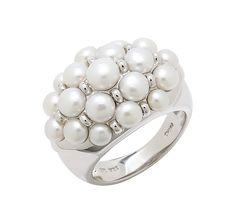 Buy Honora Sterling Silver Button Freshwater Pearl Cluster Ring, Honora Pearl Jewellery and Rings from The Shopping Channel, Canada's home shopping network - Online Shopping for Canadians The Shopping Channel, Silver Buttons, Cluster Ring, Pearl Jewelry, Valentines Day, Wedding Rings, Engagement Rings, Jewellery, Pearls