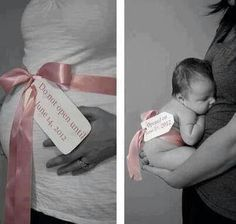 I'm doing this when I'm pregnant. So cute and creative!
