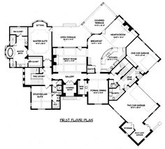 Country Tudor House Plan 53803