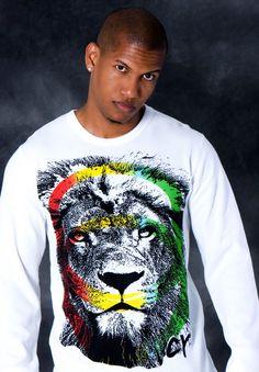 "Cooyah ""Leo"" 100% cotton long sleeve thermal.  $38.95 at cyevolution.com  #Rasta #Fashion #menswear #Jamaica"