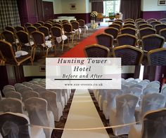 A before and after wedding picture at Hunting Tower Hotel Perth Scotland  by Eze Events Ltd