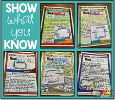 Loved That Lesson!! {Show What You Know}...check out this great alternative assessment idea! Love it!
