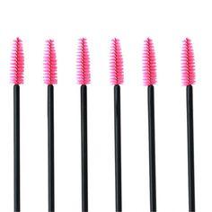 100pcs/Set Eyelash make-up brush synthetic fiber One-Off Disposable Eyelash Brush Mascara Applicator Wand Brush best deal