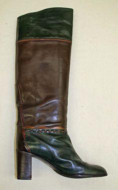 Boots, Saint Laurent, c 1978