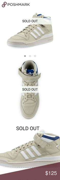 best loved 2f669 d2c19 Adidas Forum Mid (Light Tan, White, Blue accent)