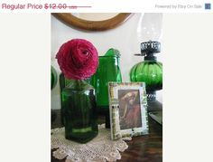 ON SALE Vintage China Mosaic Green & Gold Lace China by thooker, $10.20