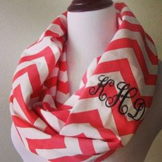 Monogrammed scarf really need to get one for this fall