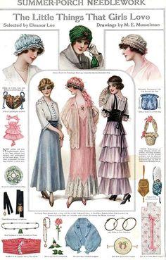 Vintage printable Costura Vintage, Moda Vintage, Edwardian Fashion, Vintage Fashion, Edwardian Era, Vintage Dresses, Vintage Outfits, Patron Vintage, Image Mode