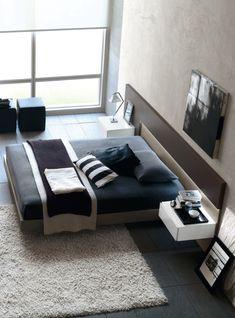 Contemporary bedroom.