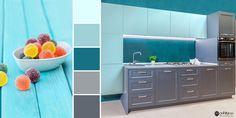 Încearcă o culoare fresh ca vara și valurile mării, chiar la tine în bucătărie! 🌊 Dresser, Furniture, Home Decor, Homemade Home Decor, Lowboy, Decoration Home, Room Decor, Home Furniture, Chest Of Drawers