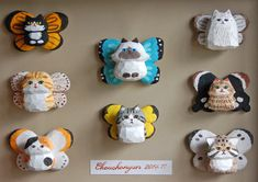 「ちょうちょにゃん」の標本 Ceramic Clay, Clay Art, Art Dolls, Diys, Diy Crafts, Ceramics, Christmas Ornaments, Holiday Decor, Inspiration