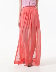 Maxi skirt with splits
