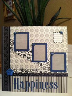 12 x 12 Premade Scrapbook page  Handpieced by CraftsByShellie, $9.00