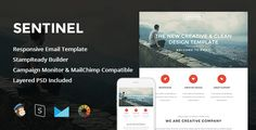 Sentinel - Responsive Email + StampReady Builder (Marketing, Email Templates, Newsletters)