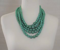 SALE-Bib Necklace Layered Necklace Turquoise Necklace