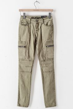 Olive Cargo Jeans