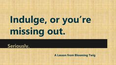 Blooming Twig Books #Indulgence in Books #booksthatmatter by Blooming Twig via slideshare