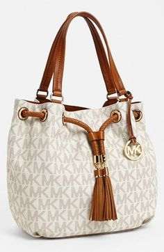 MICHAEL Michael Kors 'Large' Gathered Tote available at #Nordstrom