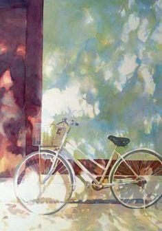 Watercolor Landscape, Landscape Paintings, Watercolor Paintings, Watercolour, Botanical Drawings, Bike Art, Still Life, Artist, Bicycles