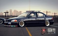 """Stanced"" Honda Civic JDM by CapiDesign.deviantart.com on @deviantART"
