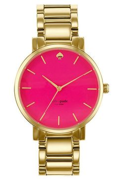 Pink meets gold in this @Kat Ellis spade new york watch