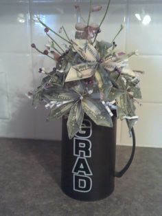 Graduation money flower bouquet