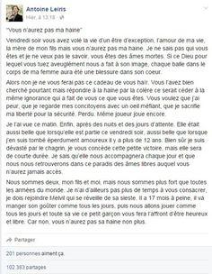 """""""Vous n'aurez pas ma haine"""" : Messages d'espoir: à vous de sourire - Journal des Femmes"""