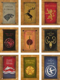 Spel van tronen negen Banner bundel grote huizen van door Lorinas