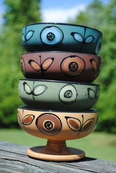 Vintage Hand Painted Bowls $40.00