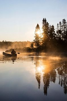 A misty sunrise on Lac du Fou in Quebec's La Mauricie National Park. by Tom Robinson #inspiring #motivation #peace