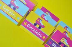 Marcadores para mesa de dulces. #soylunaparty #ideasparafiestas #kidsparty…