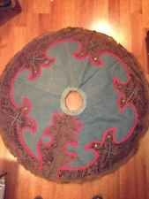 """ROCKABILLY WESTERN COWBOY COUTURE CHRISTMAS TREE SKIRT 48"""""""