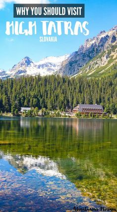 High Tatras mountains in Slovakia is a beautiful area to trek. Also it's one of the most underrated places in Europe. Want to go hiking? Find out more here. Places In Europe, Places To Travel, Places To Visit, High Tatras, Tatra Mountains, Clear Lake, Wanderlust, Go Hiking, Swiss Alps