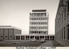 E1-Harlow Technical College-01 | by bighg11 Long Gone, Interior Architecture, Interior Design, Vintage Photography, Multi Story Building, College, Exterior, London, Places