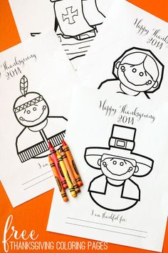 FREE Thanksgiving Coloring Pages - perfect for the kiddos on Turkey Day! { lilluna.com } #thanksgiving