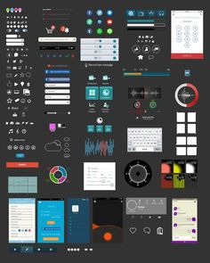 250+ Mobile Application Elements by NickNovell on @creativemarket
