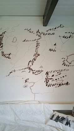 Wall with map of Middle Earth