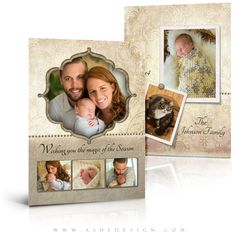 "Increase Holiday package sales with easy-to-use photography templates. Our ""Victorian Garden"" Christmas Card templates are the perfect addition to your design collection. Get this great new Christmas design today!"