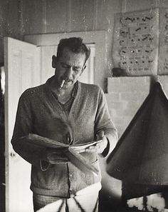 Happy Birthday to John Steinbeck, American writer and author of literature favorites like The Grapes of Wrath, East of Eden, and Of Mice and Men! This photo of him comes from our Berg Collection. Writers And Poets, Writers Write, Book Writer, Book Authors, Edward Albee, People Reading, Book People, Of Mice And Men, American Literature