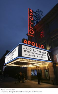 The Apollo Theater in Harlem, New York: Where Stars are born and Legends are made. Apollo Theater, Movie Theater, New York City, Broadway, Exterior, Travel, History Pics, Black History, Theatres