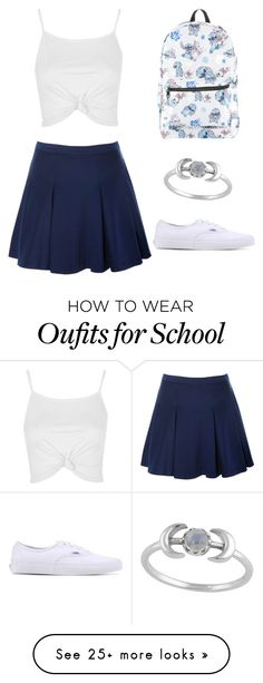 """""""When your school decides to burn down"""" by oliviacarolineantonia on Polyvore featuring Topshop, Glamorous, Vans and Disney"""