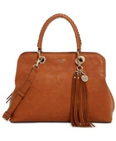 Guess Fynn Medium Girlfriend Satchel - Brown