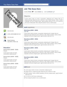 Website template, Resume and Templates on Pinterest