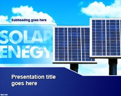 Solar Energy PowerPoint background and template can help demonstrate the importance of getting an alternative source of electricity for your house or work environment   #free #download