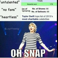 In your face, haters! Taylor Swift Funny, Taylor Alison Swift, Taylor Swift Facts, Shawn Taylor, Live Taylor, Swift 3, She Song, Look At You, Memes