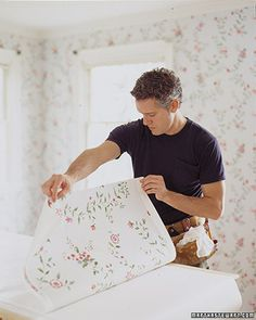 How to hang wallpaper.  Much more difficult than it seems, and need to prepare for everything!