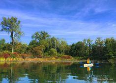 Kayking in Presque Isle State Park, Erie, Pennsylvania