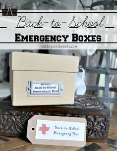 Back to School Emergency Boxes #diy