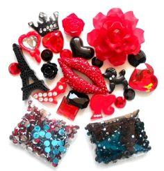 LOVEKITTY - DIY 3D Rhinestones Sexy Red Lips Bling Bling Flat back Kawaii Cabochons Deco Kit / Set, http://www.amazon.com/dp/B00BYML3OU/ref=cm_sw_r_pi_awdm_5fFjub1CREDG8